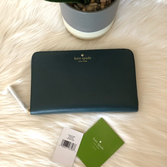 Kate Spade TRAVEL WALLET Carryall GRAND STREET ZIP Black ~NWT $248~